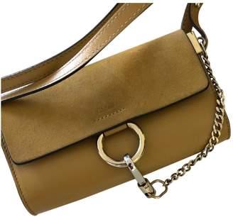 Chloé Faye Yellow Suede Handbag
