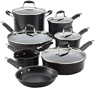 Anolon Anolon® Advanced Onyx Hard-Anodized Nonstick 12-Piece Cookware Set