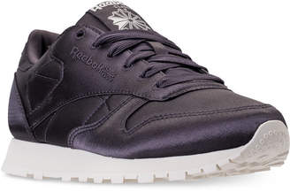 Reebok Women's Classic Leather Satin Casual Sneakers from Finish Line