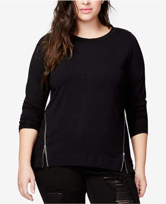Rachel Roy Trendy Plus Size Side-Zipper Blouse