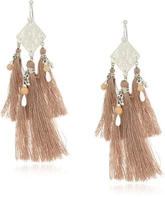 Chan Luu Coin and Tassel Drop Earrings
