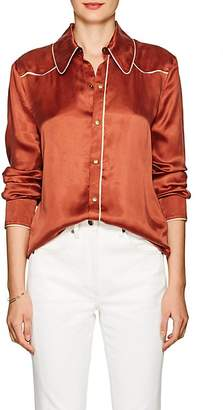 Land of Distraction Women's Sonja Washed Satin Western Blouse