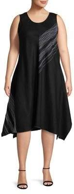 Context Plus Static Stripe Sleeveless Dress