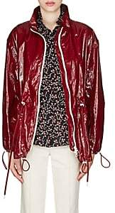 Isabel Marant Women's Enzo Laminated Cotton-Linen Jacket-Dark Red