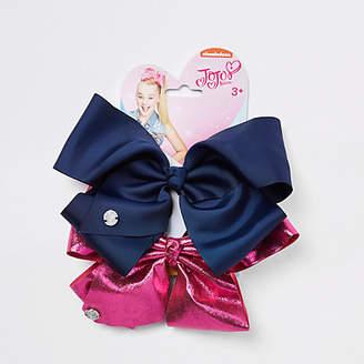 Jo-Jo Jojo Bows Girls navy and pink JoJo bows pack
