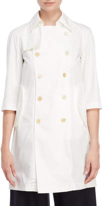 Marni White Double-Breasted Trench Coat