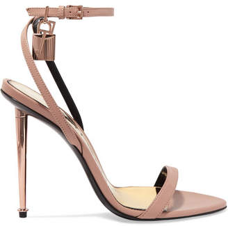 Tom Ford Padlock Leather Sandals - Neutral