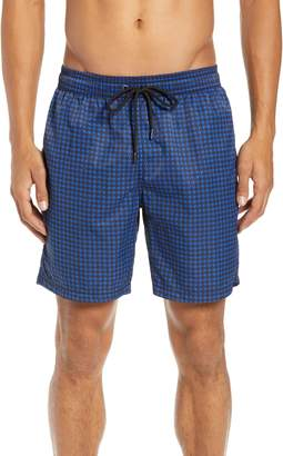Mr.Swim Mr. Swim Houndstooth Print Swim Trunks