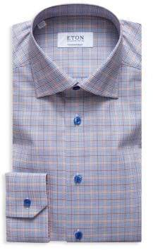 Eton Contemporary-Fit Plaid Button-Down