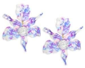Lele Sadoughi Mosaic Garden Crystal Lily Stud Earrings