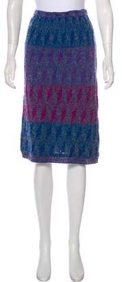 Missoni Knit Wool Knee-Length Skirt