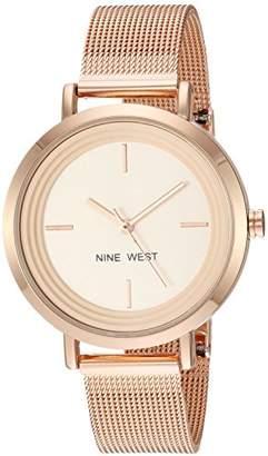 Nine West Women's NW/2146RGRG -Tone Mesh Bracelet Watch