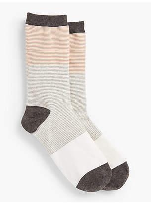 Talbots Colorblocked Space-Dye Trouser Sock