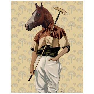 Asstd National Brand Polo Horse Portrait Canvas Wall Art