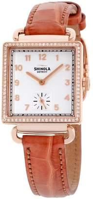 Shinola Women's The Cass Diamond 28mm Brown Quartz White Dial Watch 20031978