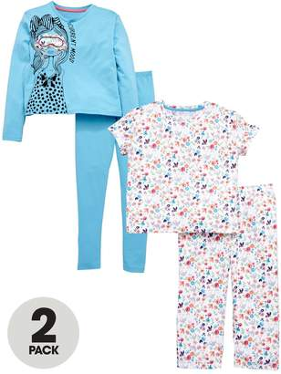 Very 2 Pack Floral Pyjamas