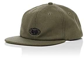 Wu Wear Men's Globe-Logo Felted Wool-Blend Baseball Cap - Dk. Green