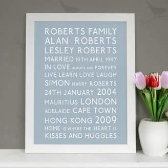 Cherry Pete Personalised Family Typographic Art Print