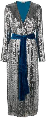 ATTICO sequin and velvet dress