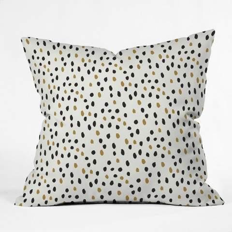 Antler Polka Dots Throw Pillow