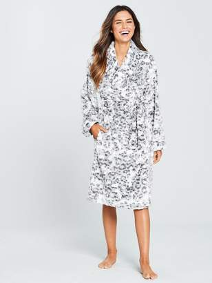 Very Animal Jacquard Print Dressing Gown - Printed