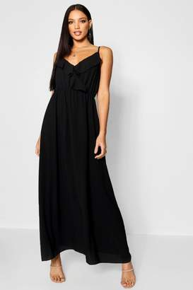boohoo Ruffle Front Maxi Dress