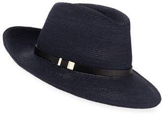 Inverni Florence Hemp-Blend Fedora w/ Leather Hat Band