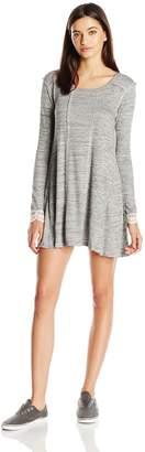Jolt Women's Knit Long Sleeve Ribbed Dress