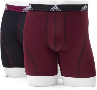 adidas Men's 2-pack ClimaLite Sport Performance Solid Boxer Briefs