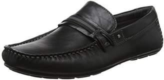 Steve Madden Footwear Men's Gander Loafer Moccasins, (Black), 40 EU