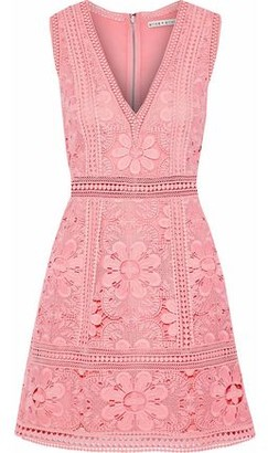 Alice + Olivia Zula Guipure Lace Mini Dress