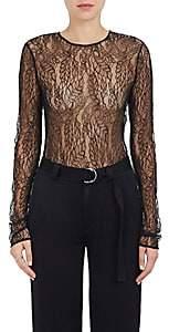 A.L.C. Women's Lace Long-Sleeve Bodysuit-Black