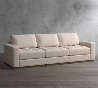 Pottery Barn Axis Upholstered Tufted Modular 3-Piece Grand Sofa