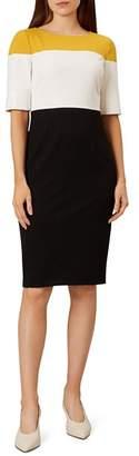 Hobbs London Marietta Color-Block Sheath Dress