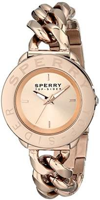 Sperry Women's 10019260 Newport Rose Gold-Tone Stainless Steel Watch
