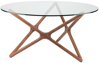 "One Kings Lane Alyssa 59"" Round Dining Table - Walnut"