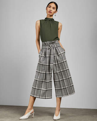 9f8073bba Ted Baker EMILIYA Checked paper bag culottes