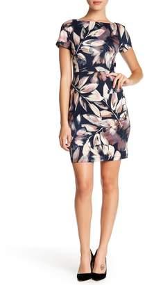 London Times Floral Ponte Sheath Dress (Petite)