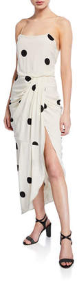Derek Lam 10 Crosby Dotted Cami Dress with Sarong Skirt