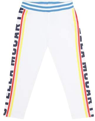 Stella McCartney Printed cotton jersey trackpants