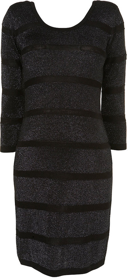 Maternity Lurex Stripe Dress