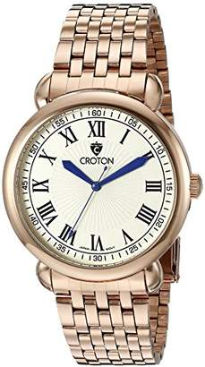 Croton Men's CN307532RGIV HERITAGE Analog Display Quartz Rose Gold Watch