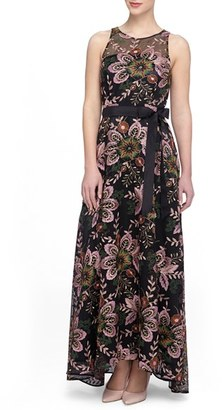 Tahari Embroidered Mesh Gown $279 thestylecure.com