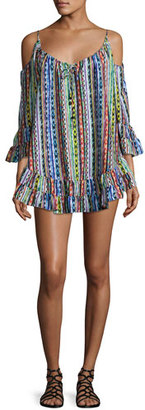 Ale by Alessandra Beach Blanket Cold-Shoulder Coverup Dress $180 thestylecure.com