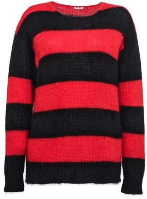 Miu Miu striped oversized jumper