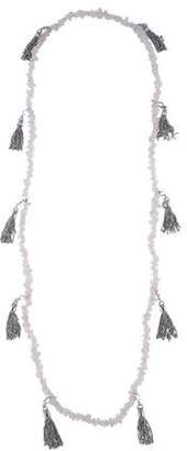 Christian Dior Rose Quartz Tassel Necklace