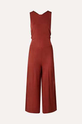 By Malene Birger Open-back Jersey Jumpsuit - Brick