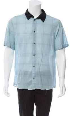 3.1 Phillip Lim Plaid Short Sleeve Shirt
