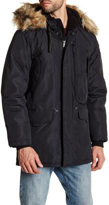 Ben Sherman Faux Fur Trim Hooded Parka Jacket $200 thestylecure.com