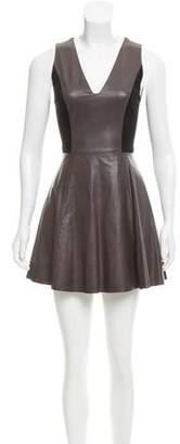 Alice + Olivia A-Line Leather Dress